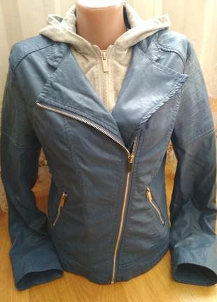 Кожаная куртка косуха с капюшоном s/m