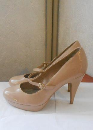 Стильные лаковые туфли new look, р.41-42 код t4201