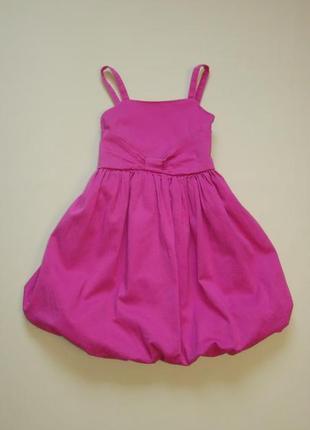 Нарядное пышное розовое платье freespirit 6-7 лет