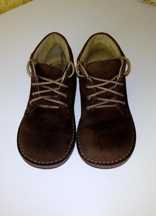 Деми ботинки натуральный замш.