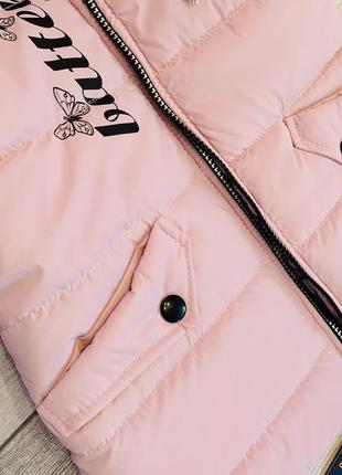 Нежность и контрасность, необыкнавенная весенняя куртка на девочку 5-9 лет4 фото