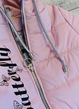 Нежность и контрасность, необыкнавенная весенняя куртка на девочку 5-9 лет3 фото