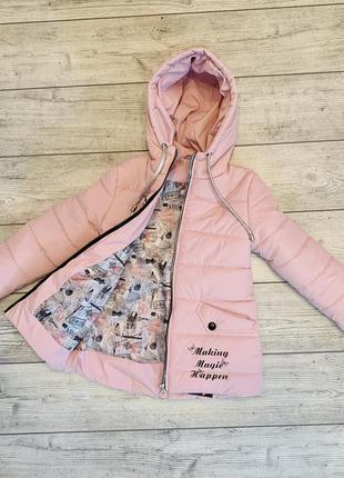 Нежность и контрасность, необыкнавенная весенняя куртка на девочку 5-9 лет1 фото