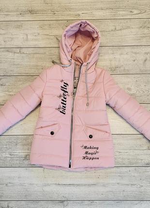 Нежность и контрасность, необыкнавенная весенняя куртка на девочку 5-9 лет5 фото