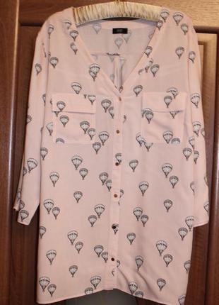 Удлиненная рубашка, туника f&f р.20 (48)