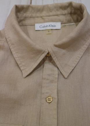 Рубашка из льна, calvin klein, оригинал, s-m2 фото