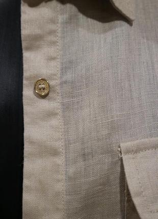 Рубашка из льна, calvin klein, оригинал, s-m4 фото