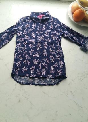 Красивая рубашка young dimension на 6-7 лет