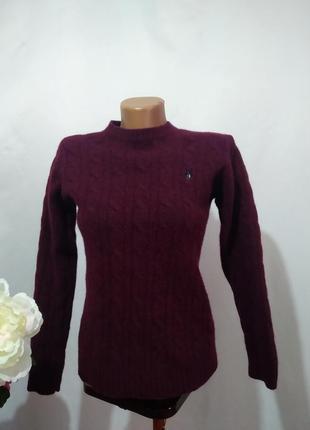 Шерстяной вязаный свитер