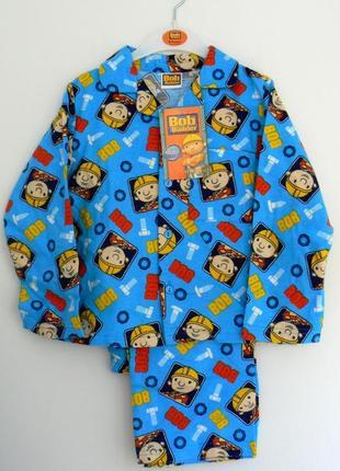 Фланелевая пижамка боб строитель мальчикам из англии