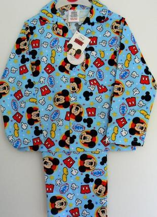 Качественная фланелевая пижамка с микки из англии