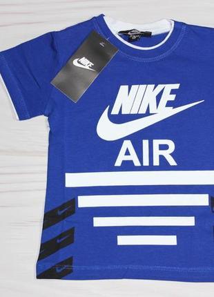 Хлопковая синяя футболка nike с надписями, турция
