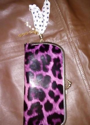 Лаковый леопардовый кошелек с китицей/портмоне/кошелек/сумка