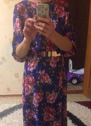 Модное цветочное платье