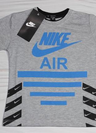 Хлопковая серая футболка nike с надписями, турция
