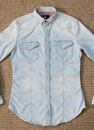 D&g dolce and gabbana brad shirt джинсовая рубашка оригинал (s-m) сост.идеал