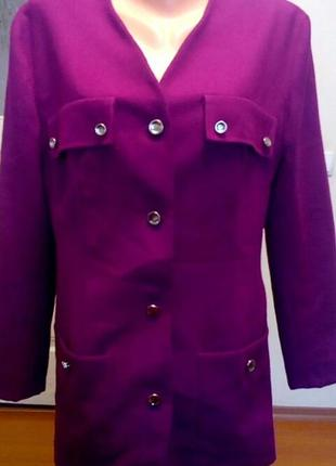 Пиджак пальто цвета фуксия