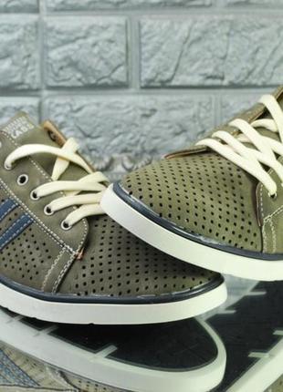 Мужские летние туфли на шнуровке
