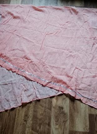 Асимметричная шаль из хлопка