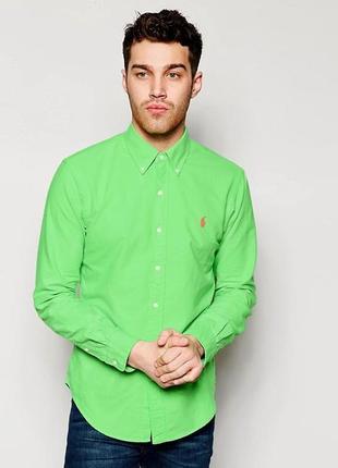Яркая натуральная рубашка ralph lauren polo