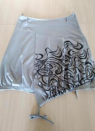 Креативная юбка- миди на подкладке,высокое качество,размер наш 50,пр-во турция.