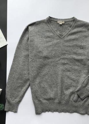 Оригинальный серый свитер burberry