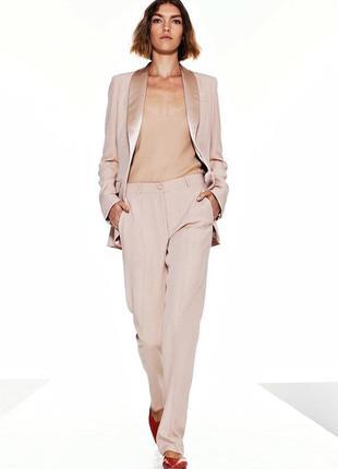 The row оригинал дизайнерские розовые шелковые брюки