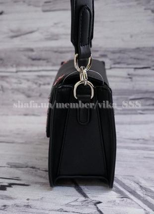 Клатч с вышивкой, сумка через плечо david jones 5997 черный3