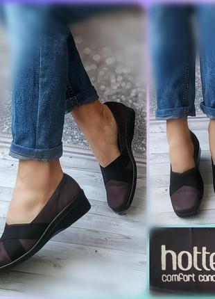 39-40р кожа!новые англия  hotter comfort,фиолетовве туфли лоферы,мокасины
