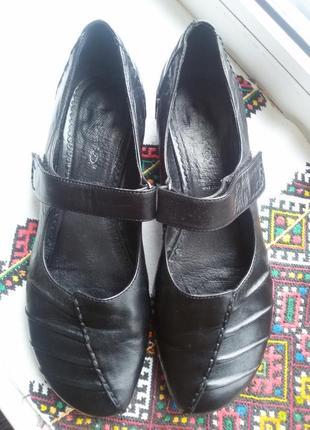 Шикарные кожанные балетки туфли