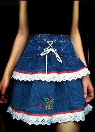 🦋трендовая джинсовая юбка 🦋
