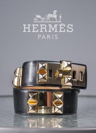 Женский пояс люкс класса hermes collier de chien, франция ремень кожаный