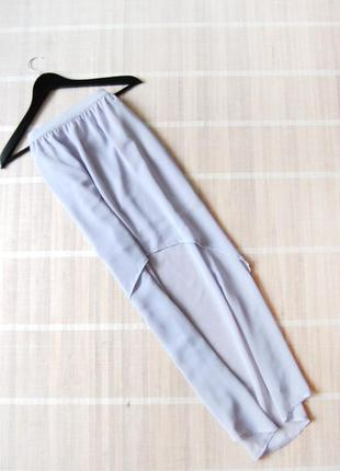 Юбка со шлейфом нежно-фиолетового цвета