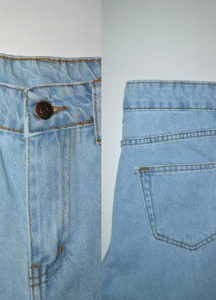 Джинсы момы  высокая посадка мом mom fit jeans.5 фото
