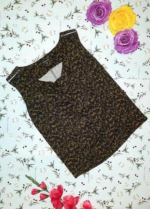 Фирменная блуза с леопардовым принтом warehouse, размер 46 - 48
