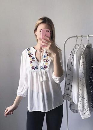 Блуза с вышивкой, вышиванка f&f