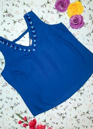 Акция 1+1=3 стильная фирменная блуза со стразами, размер 58 - 60