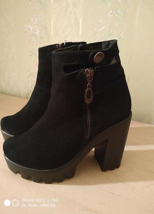 Ботиночки замшевые5 фото