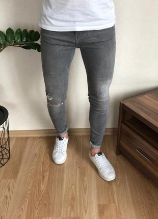 Стильные мужские зауженные джинсы topman