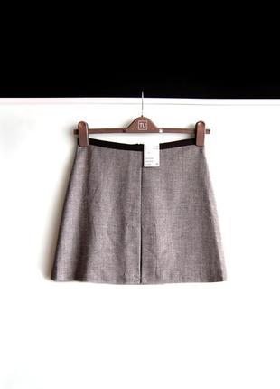 Новая юбка h&m серого цвета1 фото