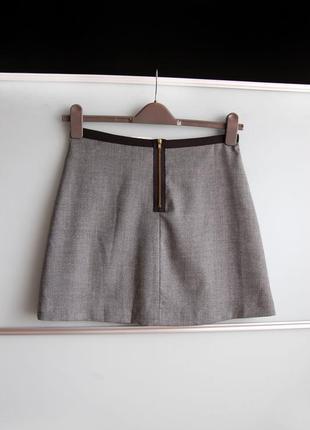 Новая юбка h&m серого цвета2 фото