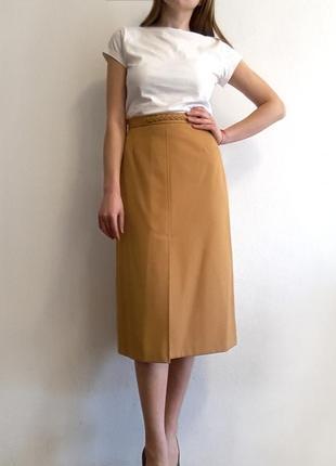Шерстяная юбка миди от trevira