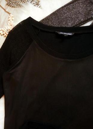 Черный кожаный реглан джемпер свитшот кофточка с кружевными рукавами сетка7 фото