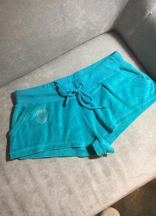 Велюровые коротки шорты