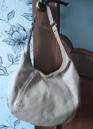 Mandarina duck hobo кожаная сумка