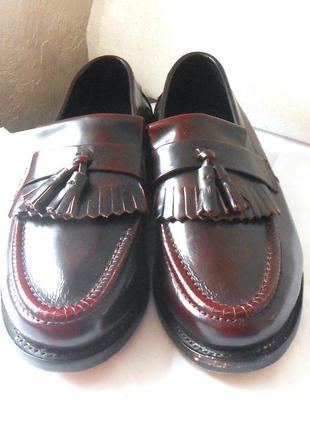 Англия! кожаные мужские туфли лоферы samuel windsor, р.41 код n4131