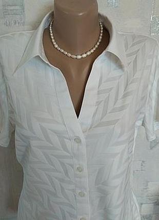 Практичная офисная блузка marks&spencer