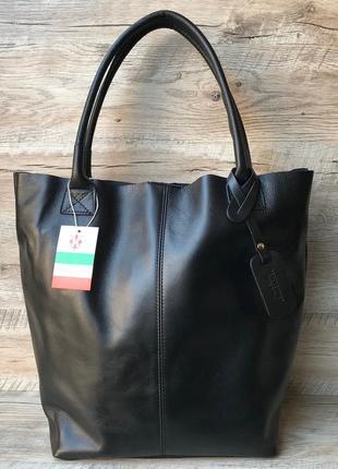 Женская кожаная итальянская сумка шоппер