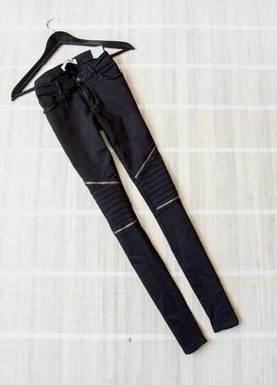 Sale! новые крутые джинсы tally weijl skinny с молниями