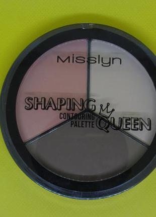 Misslyn shaping queen contouring palette палитра корректоров формы лица3 фото